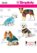 3939 Simplicity Pattern: Dog Clothes in Three Sizes